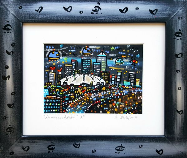 Luminous London, hand painted giclee
